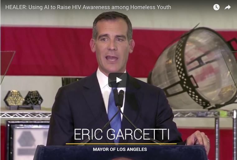 Image of Eric Garcetti giving a speech